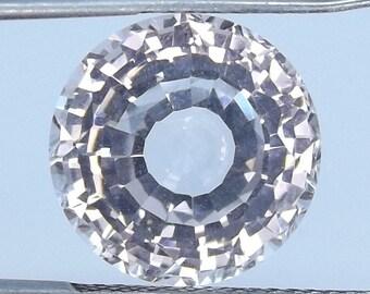 LAB CREATED White Sapphire Round cut 14.1mm. Loose sapphire courndum gemstone.