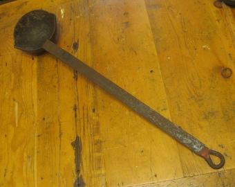 Large Smelting Ladle , 2 Foot Ladle , Metal Melting Ladle