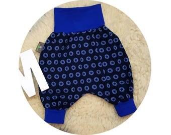 Harem pants, pants, baby pants, baby, Mitwachsen pants, bloomers, Star, Star, stars, blue, Navy Blue, dark blue