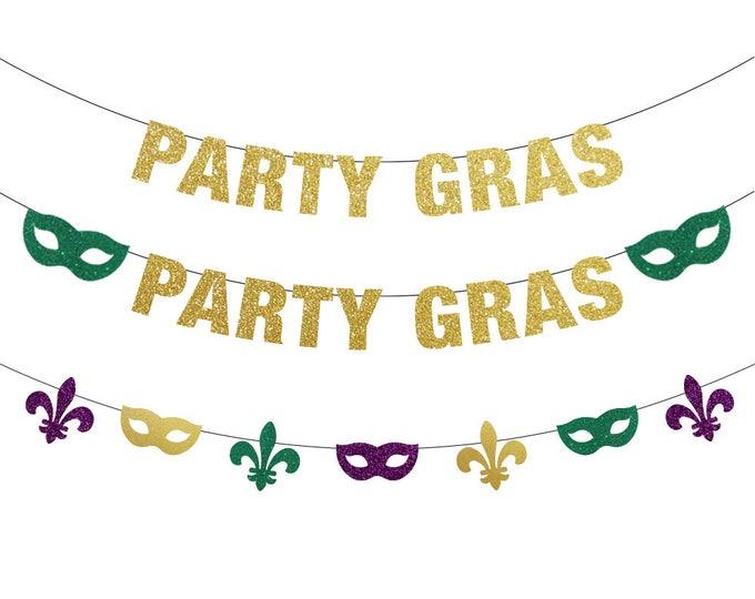 Party Gras Banner, Mardi Gras Decorations, Mardi Gras Banner, Mardi Gras Bachelorette, Mardi Gras Backdrop, Fat Tuesday, Mardi Gras