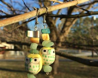 Free-For-Owl Earrings