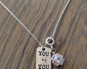 You vs. You Necklace with Pave
