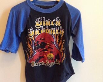 Vintage Black Sabbath - Born Again tour shirt- 1983 - raglan - rare