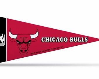 "8-Pack Chicago Bulls NBA Mini Pennants, 4"" x 9"""