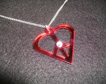 Peace heart chain