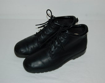 Women Size 9 BareTraps Vintage 80s Black Ankle Boots For Women