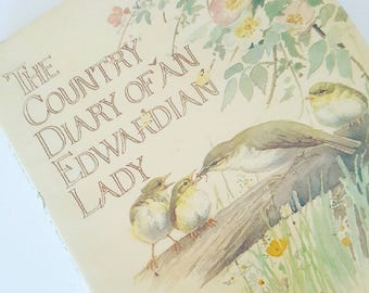 Vintage 1970s Book The Country Diary of an Edwardian Lady by Edith Holden