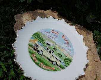 Collectible Plate, God Bless Our Camper