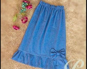 GIRLS MODEST DENIM skirt girls skirt long
