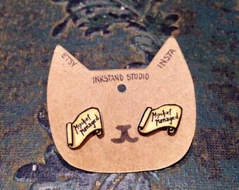 Maurader's Map Stud Earrings