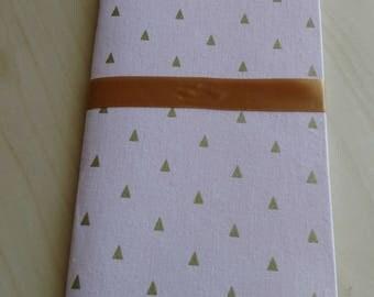 Different Sized Fabric Covered Notebooks Pink Minimal & Legend of Zelda Majora's Mask
