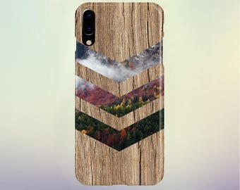 Fall Foliage Forest Chevron Brown Wood Phone Case Nature Galaxy s8 Case, Tough Case iPhone X, Samsung s7 edge Case Escape iPhone 8s Plus