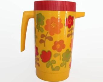 Vintage Aladdin plastic pitcher iced tea container retro kitchen