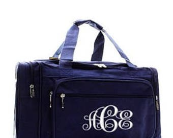 Personalized navy Duffle, Monogram Duffle, Duffle Bag Persoanlized,Monogram Duffle Bag, School Duffle, Sports bag, large duffle,solid color