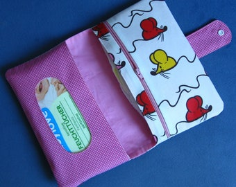 Diaper Clutch / Diaper Bag / Diaper Wipes Bag