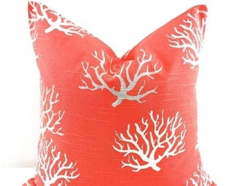 SALE Pillow. Salmon Coral pillow cover.  Coral Pillow case. Cm. Sham cover. Cushion cover. Select your size.