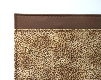 Leopard Washable Dog Potty Pad, puppy training, crate pad, waterproof