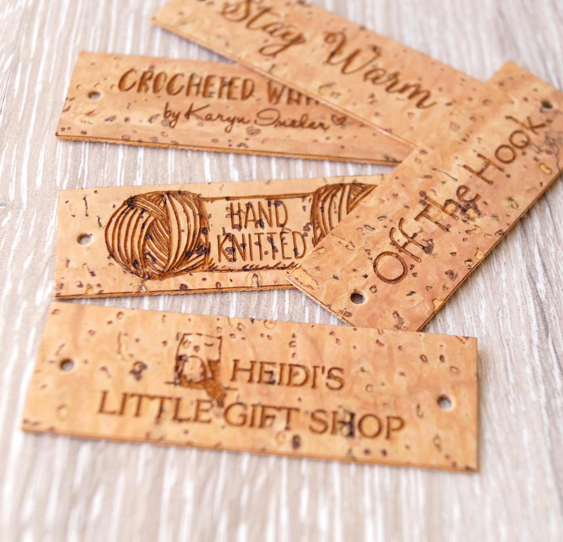 Custom Clothing Labels Cork Leather Labels Leather Tags