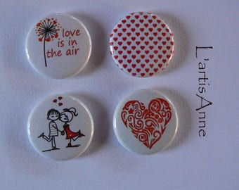 Magnets-magnets or Badges Valentine's day.