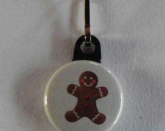 Zipper Zip Strap button zipper snowman gingerbread Christmas.