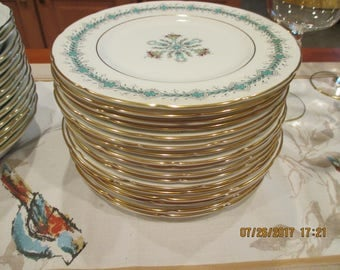 Coalport  England Fine bone china Geneva Desert / Salad Plates (4)