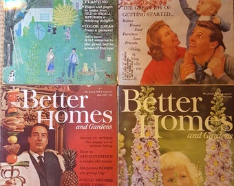 Better Homes and Gardens Magazines- LOT OF 9, 1961-1962