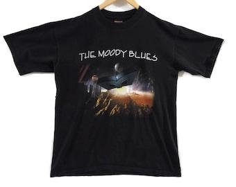 VTG Moody Blues Tour T-Shirt - XL - 1996 Summer Tour - Vintage Tee - Vintage Clothing - Classic Rock - Tour Shirt - Brockum 90s Clothing -