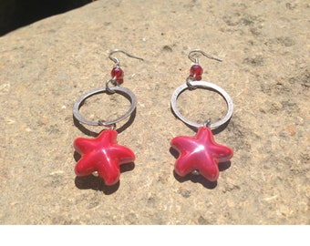 Sicilia grenadine red earrings