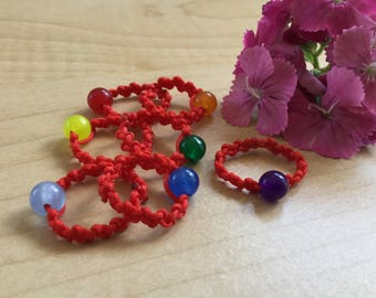 Chakra Rings. Gemstone Rings. Red String Rings. Braided Rings. Stackable Rings. Men's Rings. women's Rings. Love Token. CRGMR7