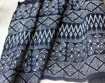 COTTON BATIKI FABRIC,Techniques and Mix Design of Tradition Ethnic Hmong & Native Northern Thai.(C004)