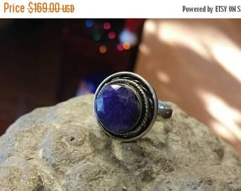 Holiday SALE 85 % OFF Sapphire  925 Sterling Silver   Ring  Gemstone