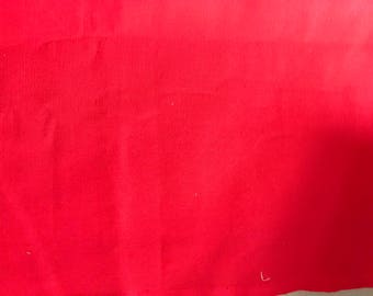 red canvas fabric