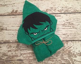 Hulk, Marvel, Hooded Towel, Kids Towel, Personalized Towel, Superhero, Beach Towel,Pool Towel, Character Towel, Kids Hooded Towel