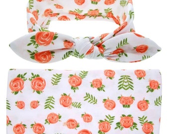 Baby Swaddle Wrap w/ Headband