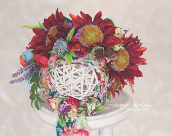 Sitter flower bonnet. For 6-12 months old. Colourful floral bonnet. Summer and spring edition.Only one available. Ready to send. Photo prop