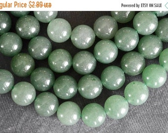 20% SALE 12mm Aventurine Gemstone Beads Green Stone Beads (8 beads) Round Stone Beads Shimery Green 12mm Stone Beads