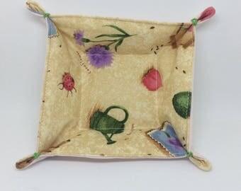 Textile Trinket Tray (ladybug)