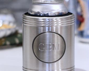 Chrome Can Cooler (e141-1100) - Free Personalization