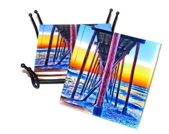 Belmar Beach Jersey Shore Coasters  / Mix and Match  / Belmar New Jersey Coasters / Jersey Shore Beach Gift