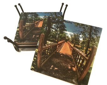 Spring Lake Jersey Shore Coaster / Ceramic Tile Drink Coaster(s) / New Jersey Beach Gift