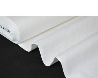100% washed linen white width 260cm - price by the French brand Linder weaving meter