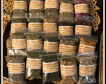 YOU Choose any 10 bags of Magick Herbs ~ NEW HERBS Added ~ Wicca ~ Witch ~ Herb Kit ~ Lavender ~ Coltsfoot ~ Rose Hips ~ Burdock Root & More