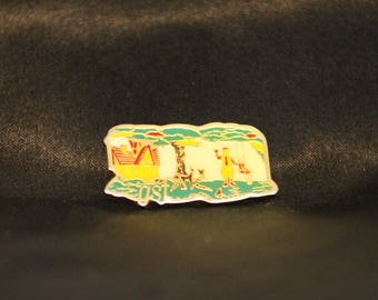 Vintage McDonalds A Ronald House and Playground Vintage Tack Pin Golden Arches