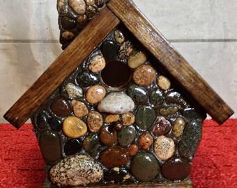 Petoskey Stone Birdhouse