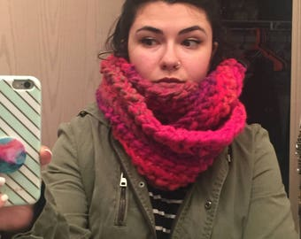 Multicolor Infinity Scarf- very warm!