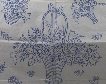 Flower Scrap Book - Vintage Iron-on Transfer - Woman No W283