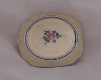 Vintage Evans Guilloche and Enamel Compact