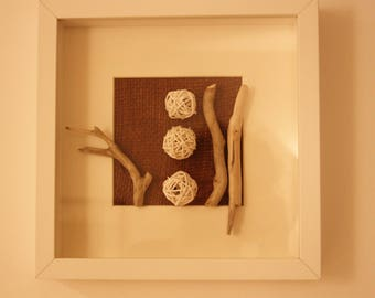 """Frame """"Nature & Co"""" drift wood & Wicker white"""