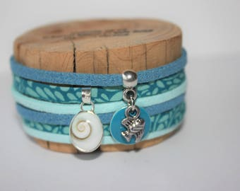 "Bracelet lucky ""Oeil of St. Lucie-"" blue & turquoise"