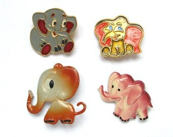 Soviet Children's badge, Pick your pin, Elephant, Animal, Brooch, Vintage collectible badge, Vintage Pin, Soviet Union, USSR, 1980s